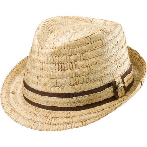Tommy Bahama Mens Burned Raffia Fedora Hat  40552ad346b