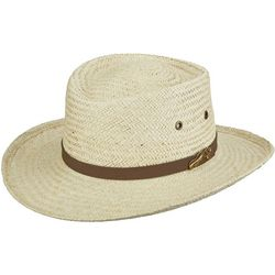 Scala Mens Natural Palm Gambler Hat