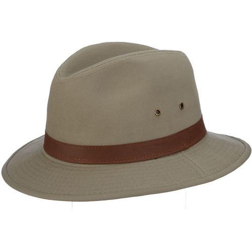 420075735e3 Dorfman Pacific Mens Khaki Washed Twill Safari Hat