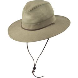 Dorfman Pacific Mens Brushed Mesh Safari Hat