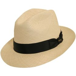 Scala Mens Panama Snap Brim Hat