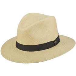 Scala Mens Panama Bubble Top Safari Hat