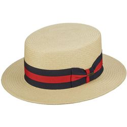 Scala Mens Panama Skimmer Hat