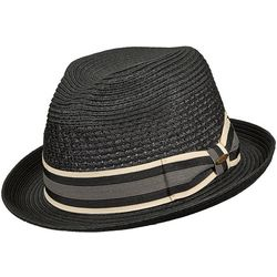 Scala Mens Vented Paper Braid Fedora