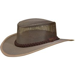 Stetson Mens Mesh Safari Hat with Braided Leather Band