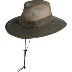 Dorfman Pacific Mens Weathered Cotton Brim Hat With Mesh
