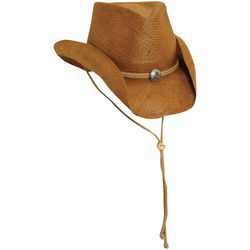 Scala Mens Shapeable Toyo Western Hat