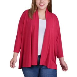 NY Collection Plus 3/4 Sleeve Cardigan