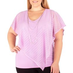 NY Collection Plus Mx Combo Burnout Poncho Top