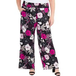 NY Collection Plus Smocked Waistband Pants