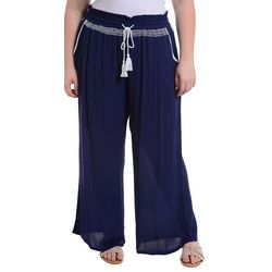 NY Collection Plus Embroidered Palazzo Pants