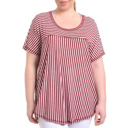 NY Collection Plus Striped Swing Top