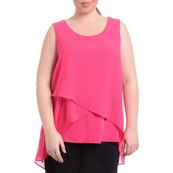 NY Collection Plus Solid Sleeveless Top