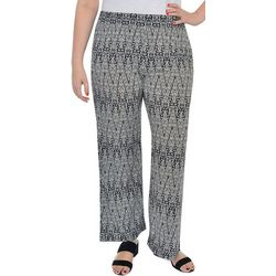 NY Collection Plus Geometric Lounge Pull On Pants