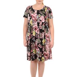 NY Collection Plus Floral Fit and Flare Dress