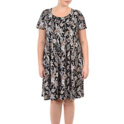 NY Collection Plus Floral Pleated Dress