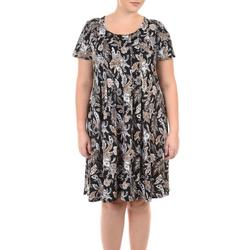 Plus Floral Pleated Dress
