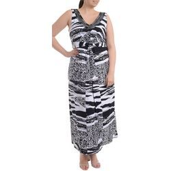 NY Collection Plus Tie Back Maxi Dress