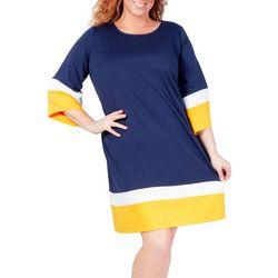 NY Collection Plus Color Block A-Line Dress