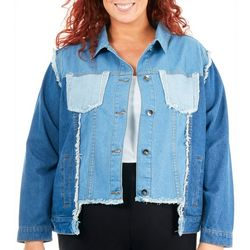 NY Collection Plus Multi-Wash Denim Jacket
