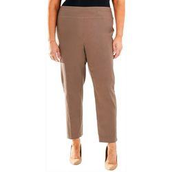 NY Collection Plus Split Waist Slim Fit Pants