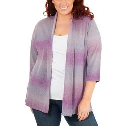 NY Collection Plus Ombre Open Front Cardigan