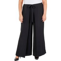 NY Collection Plus Skirt-Front Wide Leg Pants