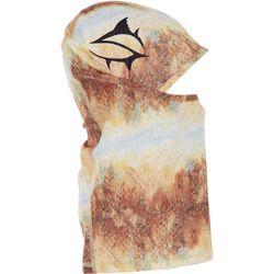 Loco Skailz Mens Red Fish Skin Print Neck