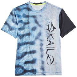 Loco Skailz Mens Second Skin Mackerel Scales Crew T-Shirt