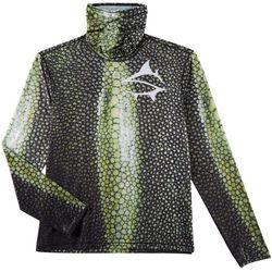 Loco Skailz Mens Stingray Skin Neck Shield Long Sleeve Shirt