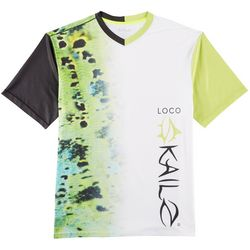 Loco Skailz Mens Second Skin Peacock T-Shirt