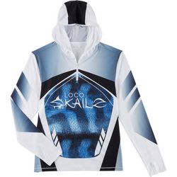 Loco Skailz Mens Mackerel Renegade Quarter Zip Hoodie