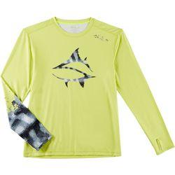 Loco Skailz Mens Mackerel Scale Long Sleeve T-Shirt