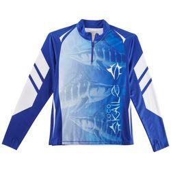 Loco Skailz Mens Tournament Marlin Season Quarter Zip Shirt