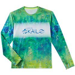 Loco Skailz Mens Extreme Skailz Mahi Tie Dye Crew T-Shirt