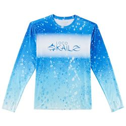 Loco Skailz Mens Second Skin Extreme Blue Dorado T-Shirt