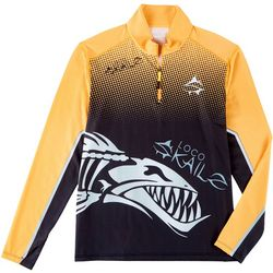 Loco Skailz Mens Bone Barracuda Quarter Zip Shirt