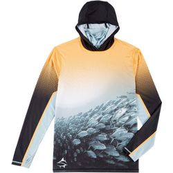 Loco Skailz Mens Cluster Neck Shield Long Sleeve Hoodie