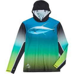Loco Skailz Mens Tuna Hunt Neck Shield Long Sleeve Hoodie