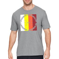 Under Armour Mens Stepped Color Graphic Heathered T-Shirt