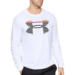 Under Armour Mens Line Logo Long Sleeve T-Shirt
