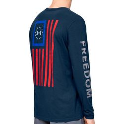 Under Armour Mens UA Freedom New Flag Long Sleeve T-Shirt