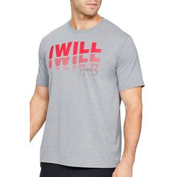 Under Armour Mens UA I Will Heathered Short Sleeve T-Shirt