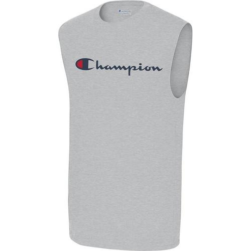 773448423 Champion Mens Classic Logo Heathered Muscle Tank Top