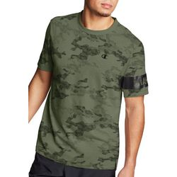 Champion Mens Camo Print Short Sleeve T-Shirt