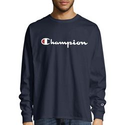 Champion Mens Classic Jersey Logo Sweatshirt