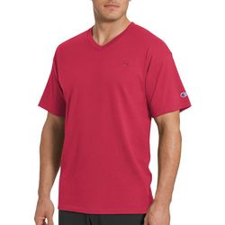 Champion Mens Jersey Cotton Solid V-Neck T-Shirt