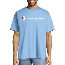 Champion Mens Jersey Script Logo T-Shirt