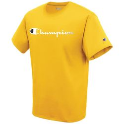 Champion Mens Jersey Script Logo Short Sleeve T-Shirt