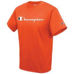Champion Mens Jersey Script Logo Short Sleeve T-Shirt